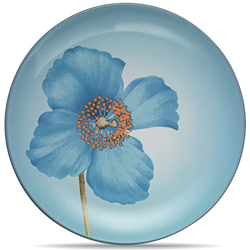 Noritake Colorwave Ice Blue Poppy Floral Accent Plate