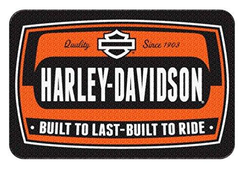 Northwest Harley-Davidson Bike Tag Low Pile Round Edge Rug, 20 x 30 Inches NW949201