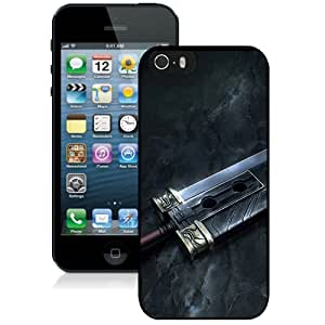 Final Fantasy Sword Black Abstract Design Custom iPhone 5 5S Case