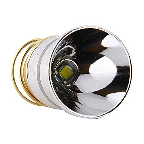 LED Flashlight Bulb, JUSTUP 1000 Lumens Smooth Reflector Cree T6 Flashlight Lamp Single Mode 3.0-18V Drop-In- P60 Design: Ultrafire Surefire Hugsby C2 G2 Z2 6P 9P G3 S3 D2 Ultrafire 501B 502B (2pack)