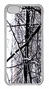 iPhone 5C Case, Personalized Custom Wet Tree Branches for iPhone 5C PC Clear Case