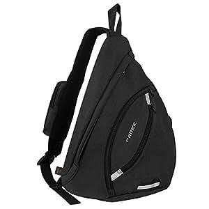 PRITEK Sling Backpack, Crossbody Bag Waterproof Ultralight Versatile Chest Daypack,Anti-Theft Over Shoulder Travel Rucksack Pack Backpack for Hiking Camping Cycling Boys Men and Women