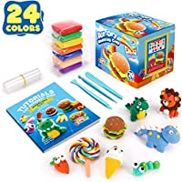 Sago Brothers Air Dry Clay,24 Colors Modelling Clay with 3 Clay Tools & Project Booklet,DIY Creative Ultra Soft Light...