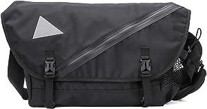 Cool Messenger Crossbody Bag for Men,Nylon Satchel Shoulder bag, Laptop Bags Bookbag 15.6 inch,black (Black)