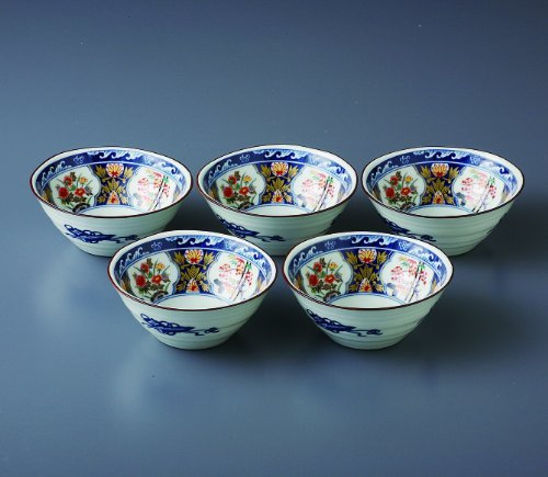 Some Nishiki 5.1inch Set of 5 Small Bowls White porcelain Made in Japan watou.asia 4562495309854