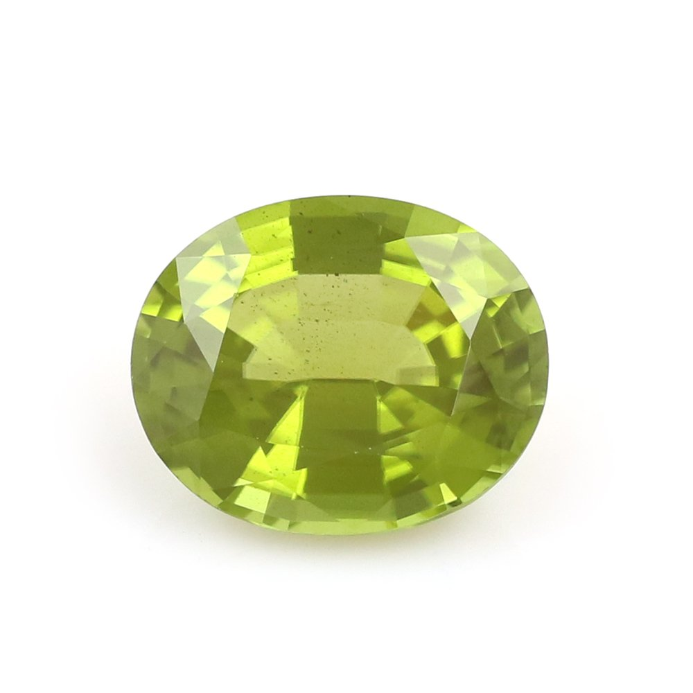 100%Natural Peridot Burma Oval 9.49 Carats TCW Fine Quality Gem By DVG