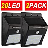 Solar Lights,Motion Sensor Light,20LED Sogrand Outdoor Wall Security Light,for Garage Door Path Walkway Patio Deck Shed Pack of 2