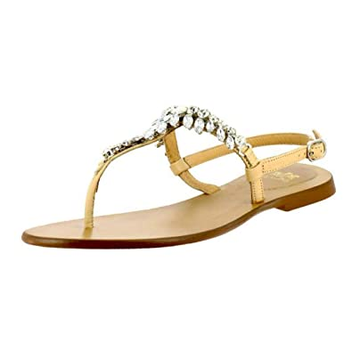 ff8520530034 Saint G Womens Beige Leather Sandals Casual Womens Sandals Saint G Leather  Sandals for Women  Buy Online at Low Prices in India - Amazon.in