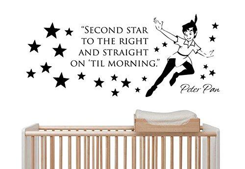 Peter And The Wolf Costumes (Wall Vinyl Sticker Decal Mural Room Design Peter Pan Cartoon Nursery Art bo2408)