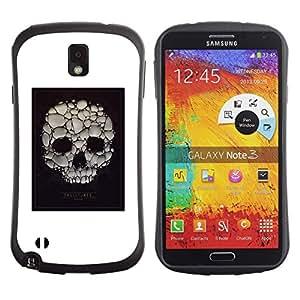 Suave TPU GEL Carcasa Funda Silicona Blando Estuche Caso de protección (para) Samsung Note 3 / CECELL Phone case / / Skull Soap Bubble Death Poster White /