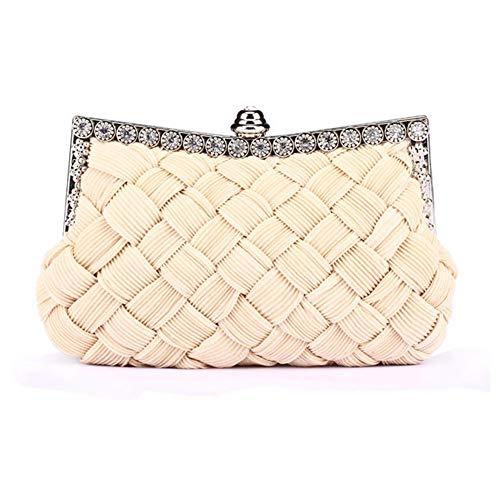 alla borsa cheongsam moda Borsa da con versatile 2 banchetto in Saoga abito sposa da diamanti serale bianco qYxzwH1zX8