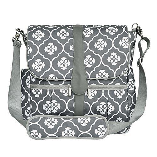 JJ Cole Backpack Diaper Bag, Gray - Diaper Dash Messenger Bag