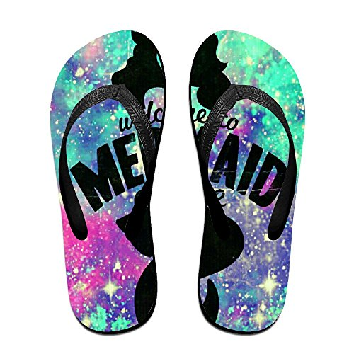 Women Flip PTJHKET for Mermaid Avenue Flops Slippers Black to Welcom Kids Men 7wwSf4nqA