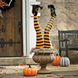 Set of Two Halloween Halloween Witch Leg Stakes - Grandin Road