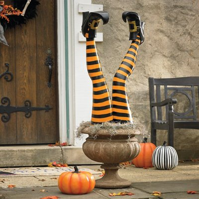 set of two halloween halloween witch leg stakes grandin road