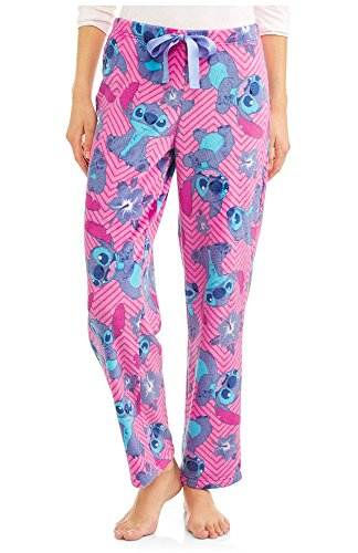 Disney Womens Stitch Super Minky Plush Fleece Sleep Pants,Multi -