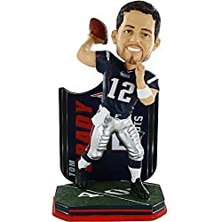 NFL New England Patriots Tom Brady Name and Number Jersey Bobblehead Figurine by Forever Collectibles
