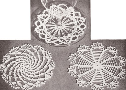 - Vintage Crochet PATTERN to make - Mini Doily Snowflake Coasters Victorian Christmas Ornaments Decorations. NOT a finished item. This is a pattern and/or instructions to make the item only.