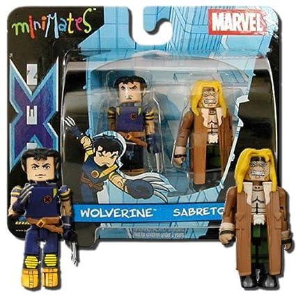 Marvel Minimates Series 3 Ultimate X-Men Wolverine /& Sabretooth