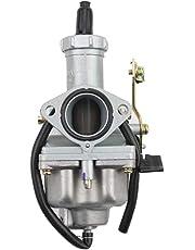 GOOFIT Carburador Moto, 27mm PZ27 con Cable Choke para 4 Tiempos 100cc 125cc 150cc 175cc 200cc CB125 XL125S TRX250 TRX 250EX ATV Quad Pit Bike Motor Ciclomotor y Scooter Plata