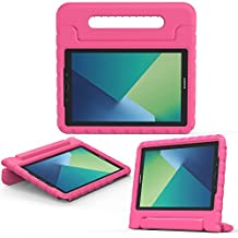 """MoKo Samsung Galaxy Tab A 10.1 with S Pen Case - Kids Shock Proof Convertible Handle Light Weight Protective Stand for Samsung Galaxy Tab A 10.1"""" Tablet (SM-P580/SM-P585 S Pen Version), MAGENTA"""