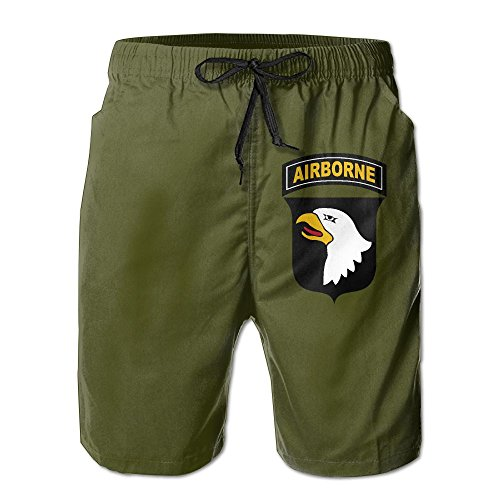 Airborne Shorts (Thesho Army 101st Airborne Division Men's Workout Beach Swim Trunks Board Shorts)