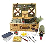 Picnic Pack Willow Picnic Basket for 4
