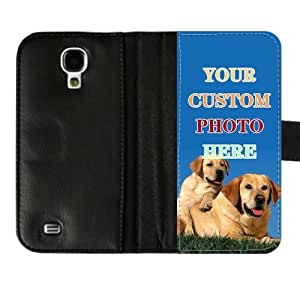 customize your pet photo any image here phone case, emma watson Wallet Leather Samsung Galaxy S4 I9500 case Add Your Image Here