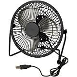Honey-Can-Do OFC-04476 Compact USB Powered Desk Fan, 7.1x3.54x7.3, Black