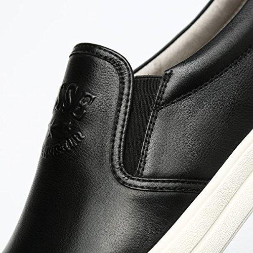 Zapatos de cuero invierno otoño moda tendencia mocasines cuero casual personalidad de los hombres: Amazon.es: Deportes y aire libre
