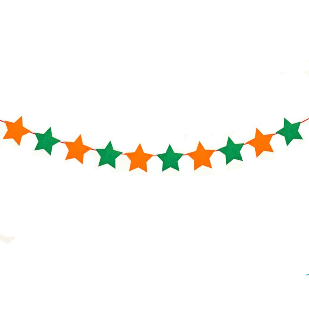 chambre denfant D/écoration de No/ël et 2.5/m Vert//ora f/ête danniversaire haodou pentagramme Banni/ère Guirlande Fanions en non-tiss/é avec 10/pcs Flag Multicolore Guirlande pour Anniversaire de b/éb/é