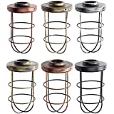 Iron Vintage Ceiling Light Fitting Lamp Bulb Long Shape Cage Bar Cafe Lampshade (Random: NO.)