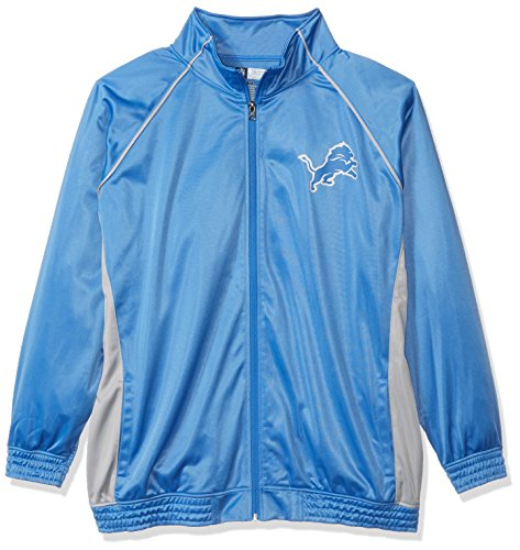 - NFL Detroit Lions Women POLY TRICOT TRACK JACKET, BLUE/GREY, 2X