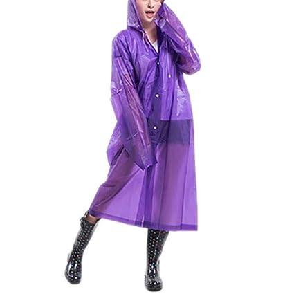 VBCTHDC traslúcido Lluvia abrigo de las mujeres abrigo de lluvia de verano F ¨ ¹ r