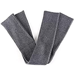 Arm Sleeves Women's Autumn and Winter Thick Long Gloves Knitted Warm Sleeves Work Gloves (Color : Gray, Size : S)