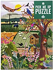 1000-delige legpuzzel Engels platteland en Britse vogels |Met bijpassende poster & trivia-blad |Kleurrijk geïllustreerd ontwerp, verjaardagscadeau, cadeaus voor tuinmannen, kunst aan de muur