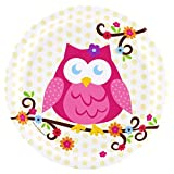 Owl Blossom Party Supplies - Dinner Plates (8)