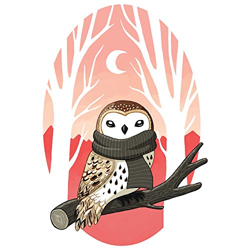 My Wonderful Walls Digital Bird Art Wall Sticker Decal Winter Owl by Indre Bankauskaite (S)