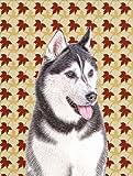Cheap Caroline's Treasures KJ1203CHF Fall Leaves Alaskan Malamute Flag Canvas, Large, Multicolor