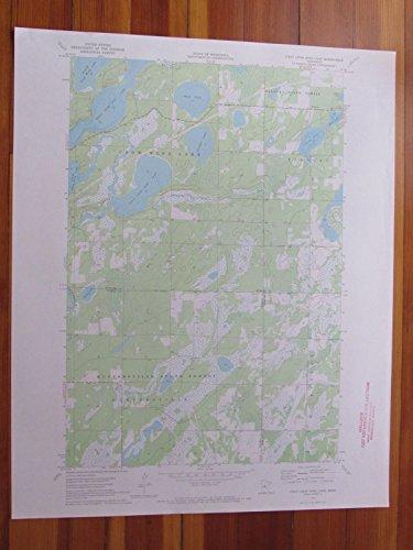 (First Crow Wing Lake Minnesota 1972 Original Vintage USGS Topo Map)
