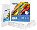 FIXSMITH Painting Canvas Panels - 8x8 Inch Canvas