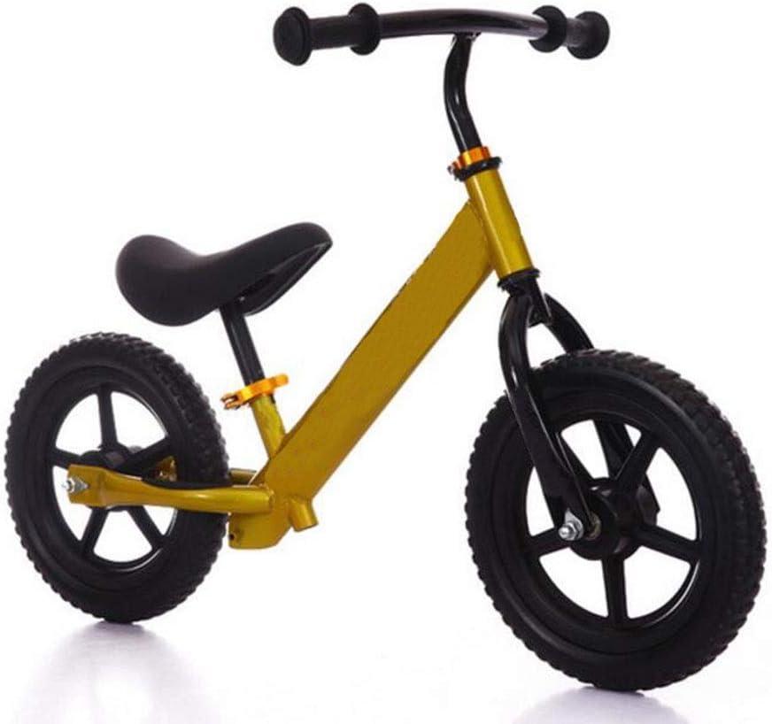 Bicicleta para niños Pista para equilibrio de 12 pulgadas Bicicleta para el automóvil dos rondas sin pedales entrenamiento con equilibrio para andar bicicleta impulsor para niños bicicleta de aprendiz: Amazon.es: Deportes y