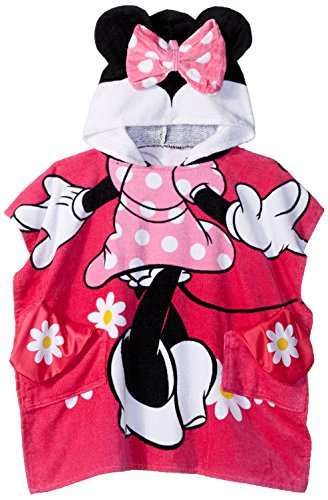 Friends Bath Towel (Disney Minnie Mouse Flowers Official 'Pocket Frenz' Cotton Bath/Beach Hooded Towel (A Friend In Every Pocket))
