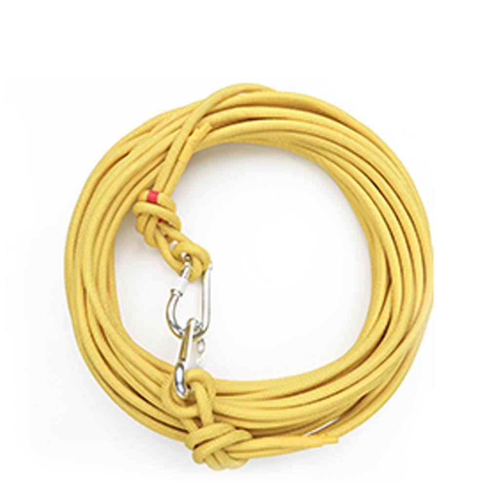世界的に有名な クライミングロープ、10mm屋外避難救助屋内ロープ、50mロング、スチールワイヤーコア3ミリメートル高強度コード安全ロープ いえろ゜ : (色 : Red, サイズ いえろ゜ さいず : 50m) B07P15B4V3 イエロー いえろ゜ 50m 50m|イエロー いえろ゜, 衝撃特価:b9c2b7bc --- senas.4x4.lt