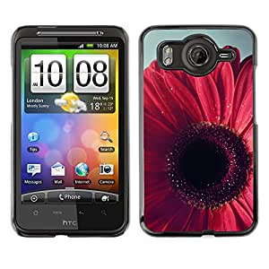 Cubierta de la caja de protección la piel dura para el HTC DESIRE HD / G10 - petal floral pink purple