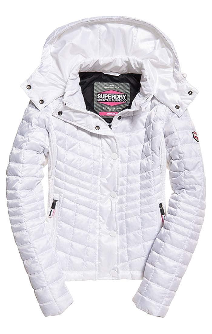 TALLA Large (Talla del fabricante: 14.0). Superdry Nova Box Quilt Fuji Jacket Chaqueta Deportiva para Mujer