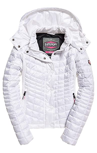 Femme 26c Bianco 10 taille Fabricant Superdry Blanc Box De Nova Veste 0 Jacket Sport Small optic Fuji Quilt 0qW1PA