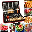 80Pcs Portable Vegetable Fruit Food Chef Burin Carving Chiseling Tool Kit With Bag by Lovestore2555
