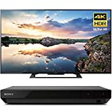 Sony 60-Inch 4K Ultra HD Smart LED TV 2017 Model (KD60X690E) with Sony 4K Ultra HD Blu Ray Player with Dolby Vision