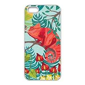 Personalized AXL-365950 Durable Cell Phone Case For Iphone 5,5S Cover Case w/ The Red Chameleon